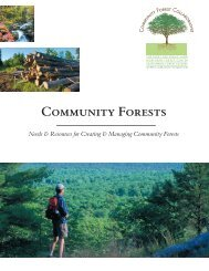 Community Forests - US Endowment for Forestry & Communities, Inc.