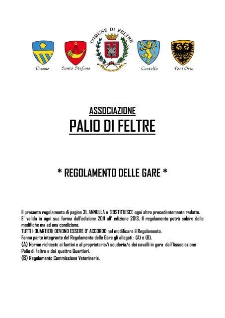 check out 8e7be c1733 PALIO DI FELTRE - Collegio dei Capitani e delle Contrade