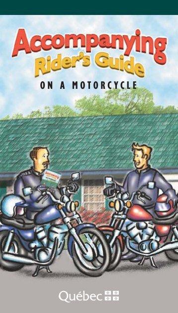 on a Motorcycle - Société de l'assurance automobile du Québec