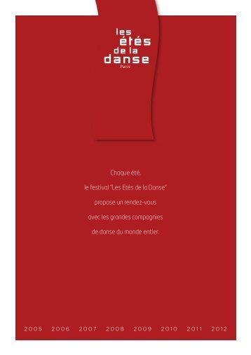 la plaquette institutionnelle du festival - les etes de la danse