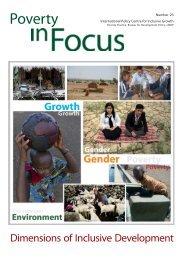 Dimensions of Inclusive Development - HELIO International