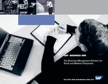 sap® business one - Precision Management Institute