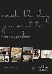 Wedding Brochure - Thistle Hotels