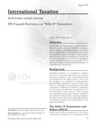 International Taxation By Kevin Rowe and Jack Cummings - CCH