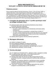 REGULAMIN REKRUTACJI DO KLASY I O ... - bajkowa.waw.pl
