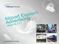 Airport Express Advertising Media Kit 2011 - JCDecaux Group