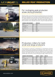 MILLED PEAT PRODUCTION - Rovaltra