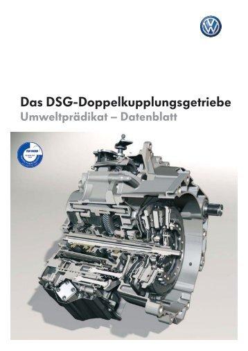 Das DSG-Doppelkupplungsgetriebe - Volkswagen AG