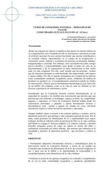 comunidad teologica evangelica de chile - Comunidad Teológica ...