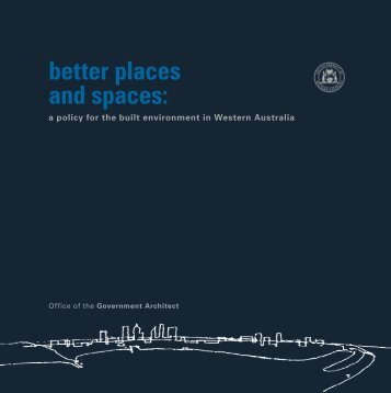 better places and spaces: - Department of Finance