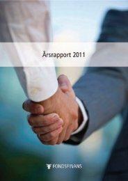 Årsrapport 2011 - Fondsfinans