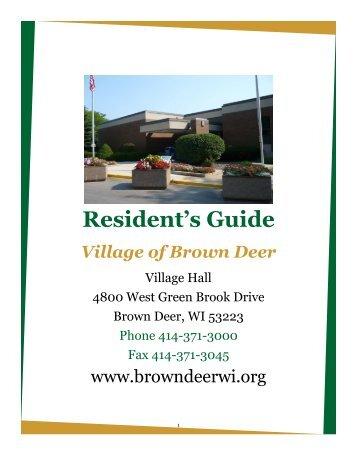 Booklet - Village of Brown Deer