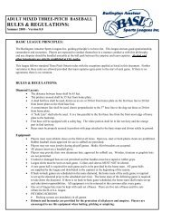 RULES & REGULATIONS: - BASL