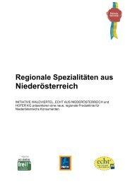 Regionale Spezialitäten aus Niederösterreich - Initiative Waldviertel