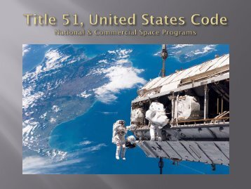 US National and Commercial Space Programs - International ...