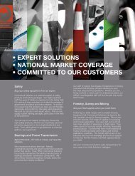 expert solutions • national market coverage • committed to our ...