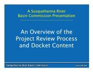 An Overview of the Project Review Process and Docket Content