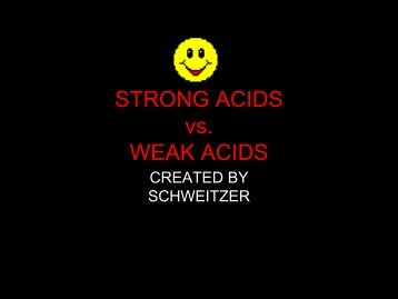 STRONG ACIDS vs. WEAK ACIDS