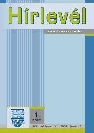 Hírlevél 2008/1 (PDF, 1.18 MB) - Magyar Innovációs Szövetség