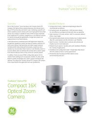 TruVision Dome PTZ Compact Cameras Data Sheet - Interlogix