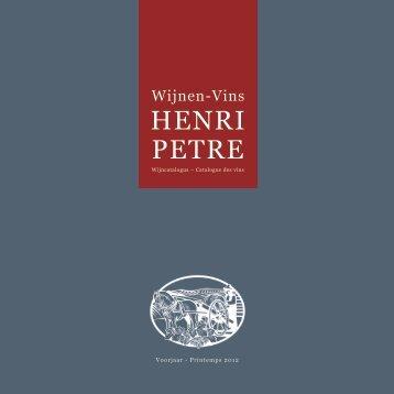 HENRI PETRE - wijnkanaal.be
