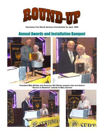Annual Awards and Installation Banquet - Sertoma Club of Fort Worth