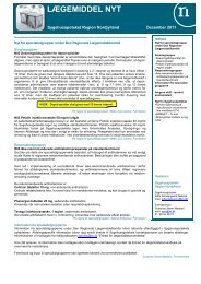 Lægemiddel Nyt 201104 - Sygehusapoteket - Region Nordjylland