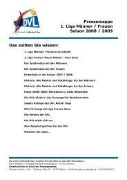 Pressemappe 1. Liga Männer / Frauen Saison 2008 / 2009  Das ...