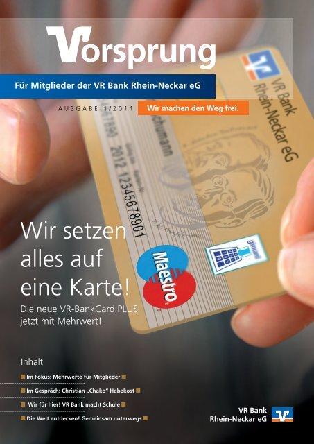 1_Mitgliederzeitung A4_NEU.indd - VR Bank Rhein-Neckar eG