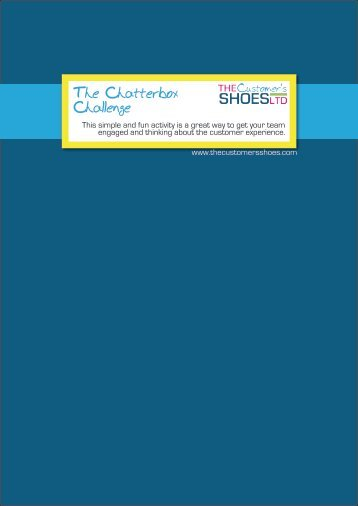 The Chatterbox Challenge - The Customer's Shoes