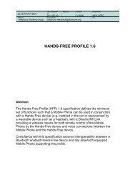 HANDS-FREE PROFILE 1
