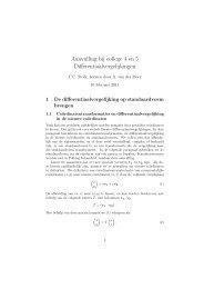 Aanvulling bij college 4 en 5 Differentiaalvergelijkingen