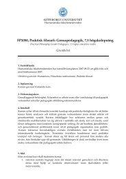 FP1050, Praktisk filosofi: Genuspedagogik, 7,5 högskolepoäng