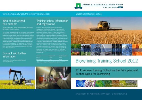 Biorefining Training School 2012