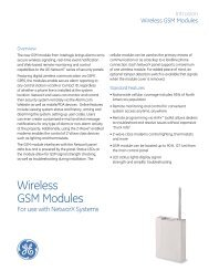 NetworX Wireless GSM Modules Data Sheet - Interlogix