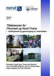 Tiltakssonen for Finnmark og Nord-Troms - Norut