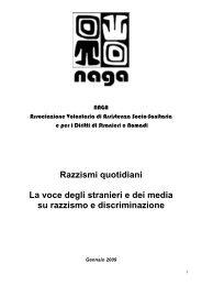 Razzismi quotidiani La voce degli stranieri e dei media su ... - Cestim