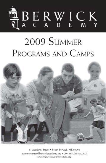 Summer Programs Brochure - Berwick Academy