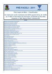 PRÉ-FACELI - 2011 - Linhares