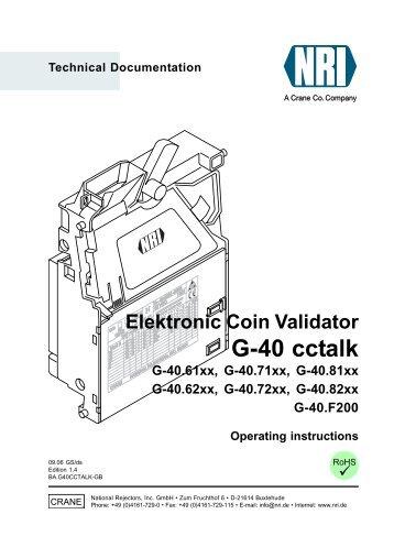 Technical Documentation Electronic Coin Validator G-13.mft