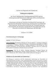 Leitlinie zur Diagnostik und Therapie der Meningeosis ... - EANO