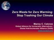 Zero Waste for Zero Warming, Stop Trashing Our Climate
