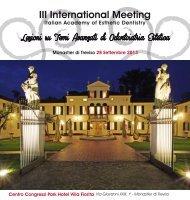 III International Meeting - Micerium