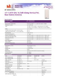 4.9 -5.875 GHz 16.5dBi 60deg Vertical Pol. Base Station Antenna