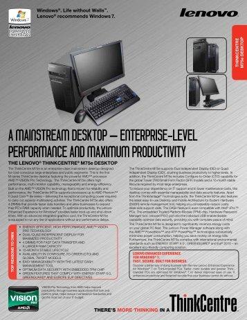 Lenovo ThinkCentre M75e AMD RAID Last