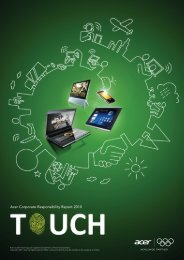 Acer Corporate Responsibility Report 2010 - Acer Group