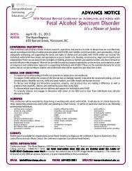 Fetal Alcohol Spectrum Disorder - UBC Interprofessional Continuing ...