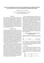 parallel implementation of finite difference schemes for the plate ...