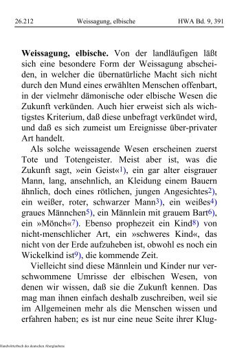 Weissagung, elbische - Schauungen.de