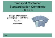 Transport Container Standardisation Committee (TCSC) - Ramtuc